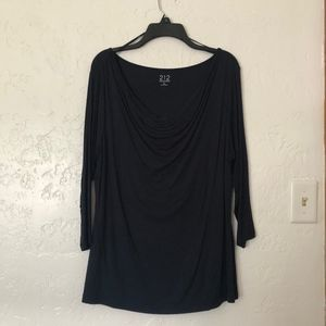 212 Collection, navy blue blouse, size XL